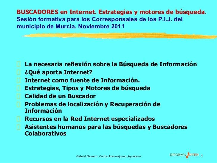Buscadores Internet - Corresponsales PIJ 2011