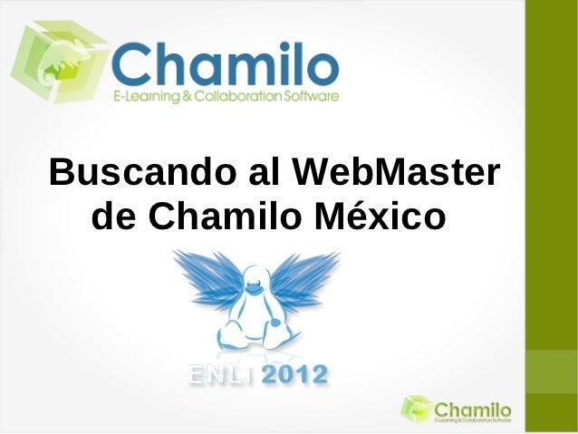 Buscando al WebMaster  de Chamilo México