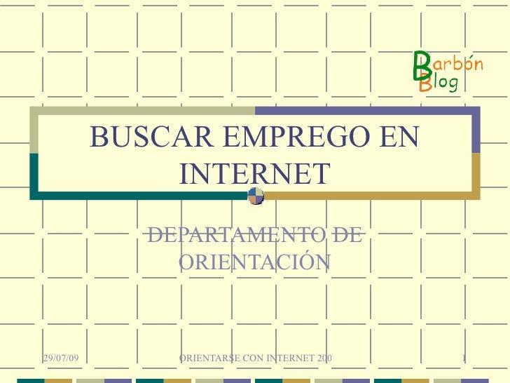 BUSCAR EMPREGO EN INTERNET