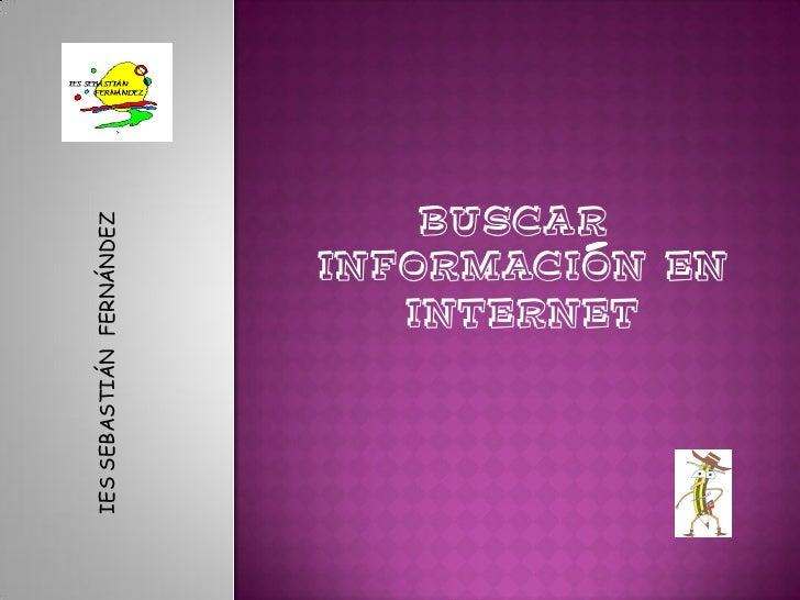 Buscar información internet