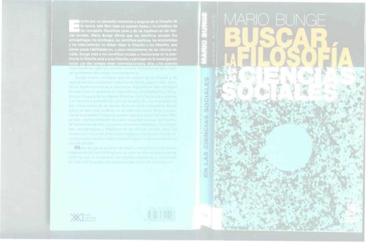 Buscando la filosofia en las ciencias sociales. Bunge