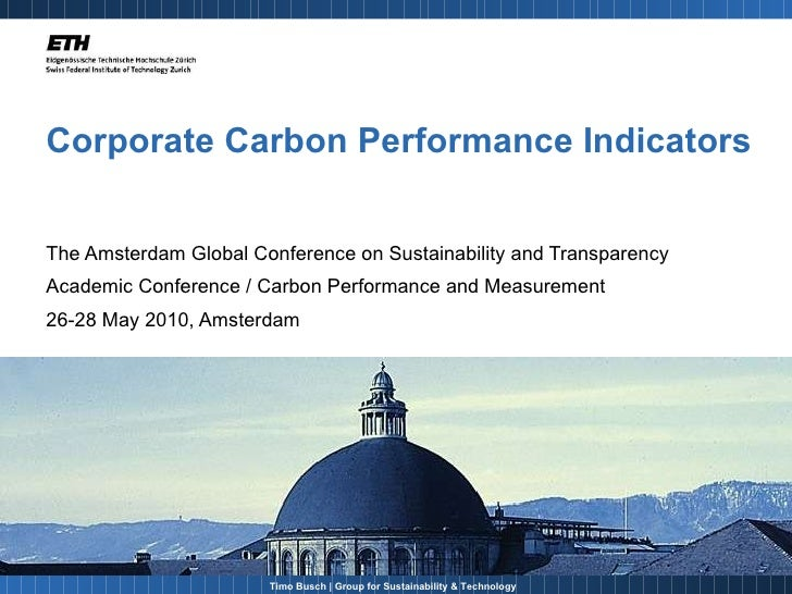 Corporate Carbon Performance Indicators The Amsterdam Global Conference on Sustainability and Transparency  Academic Confe...