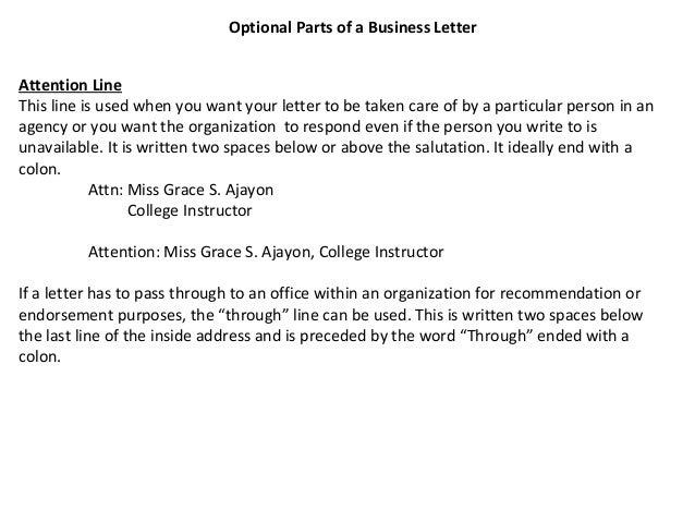 letter format 187 attn letter format cover letter and resume samples - Business Letter Format Cover Letter