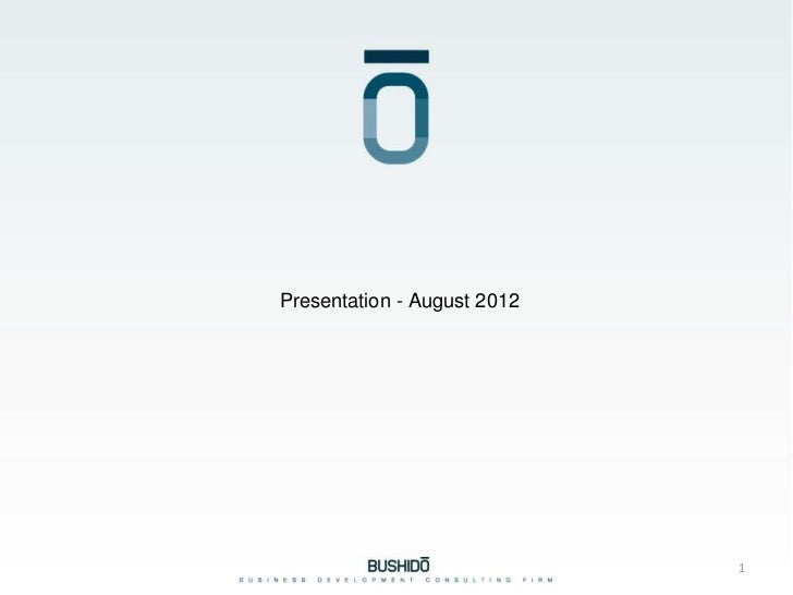 Presentation - August 2012This document is strictly confidential and for PwC use only                                     ...