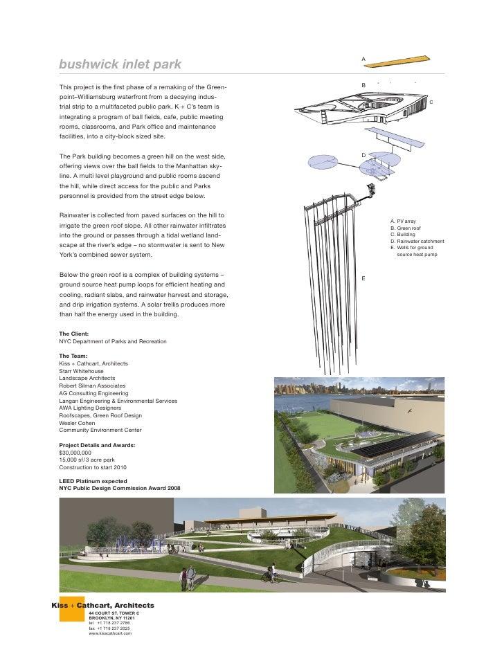 Kiss + Cathcart, Architects          44 COURT ST. TOWER C          BROOKLYN, NY 11201          tel +1 718 237 2786        ...