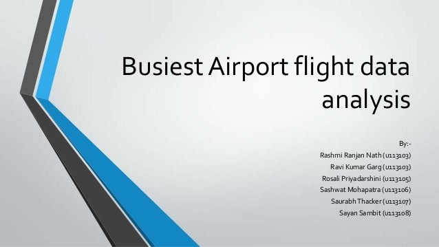 Busiest airport flight data analysis