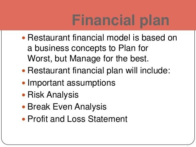 business plan for a restaurant