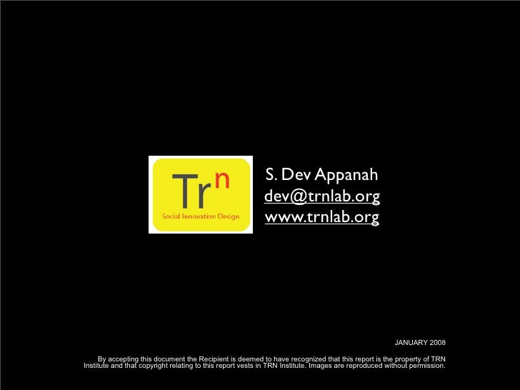 S. Dev Appanah                                                           dev@trnlab.org                                   ...