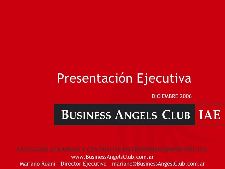 Business Angels Club - IAE