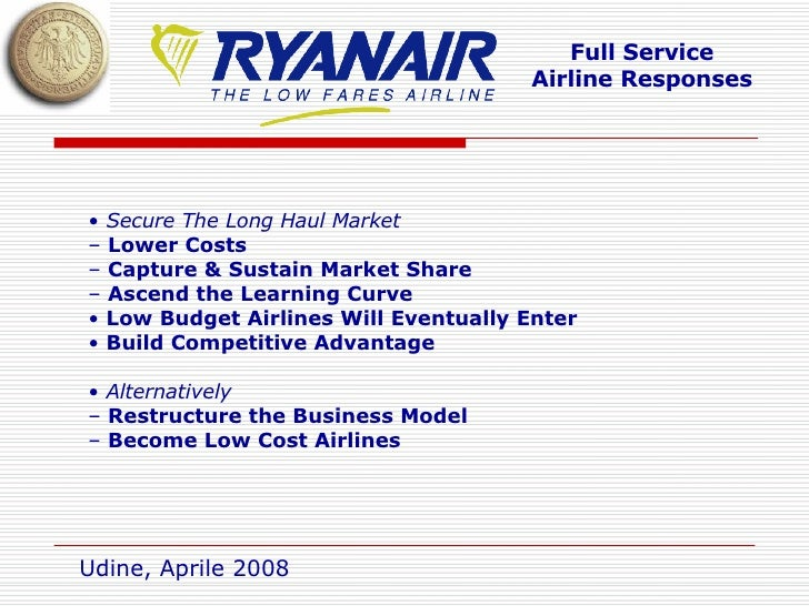 key success factors ryanair low fare airline Ryanair is europe's largest low-fare airline and its  these revenues also contribute to subsidizing ryanair's low fares  one of the key success factors for.