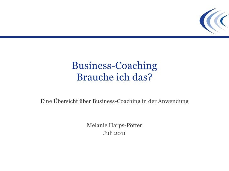 Business Coaching - ein Überblick