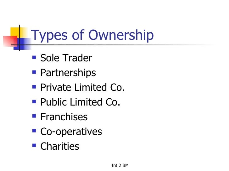 types of ownerships