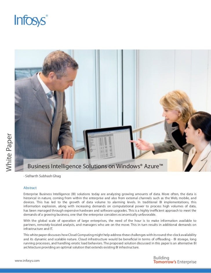White Paper                     Business Intelligence Solutions on Windows® Azure™                   - Sidharth Subhash Gh...