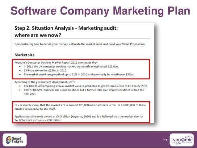 Marketing plan software company