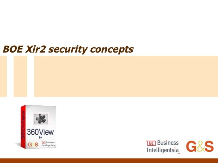 BOE Xir2 security concepts