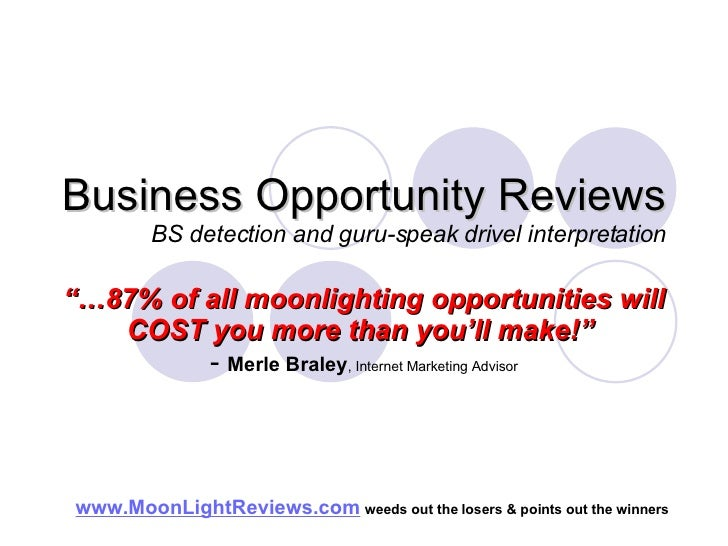 Business Opportunity Reviews