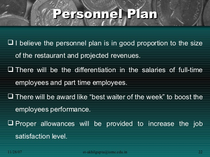 Business plan personnel
