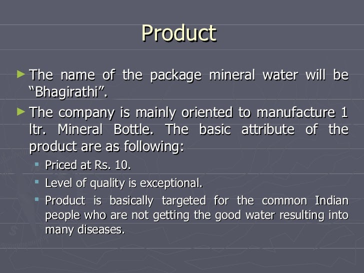 Bottled water business plan