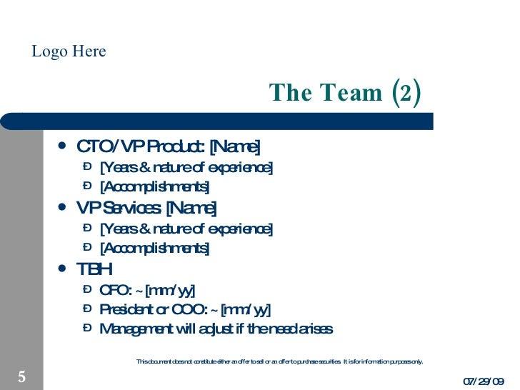 Business plan highlights