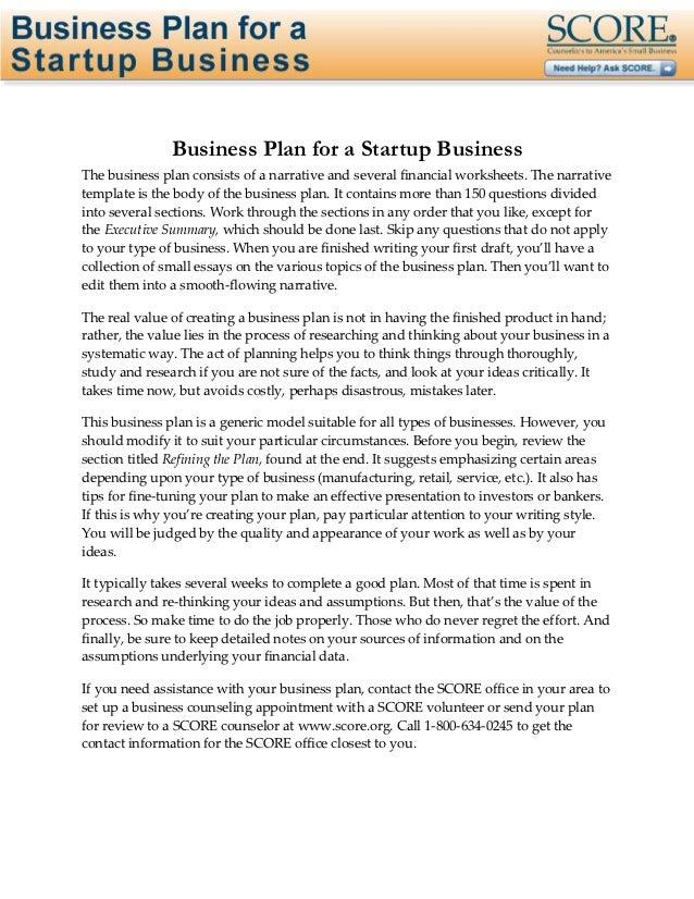 Business plan-startup