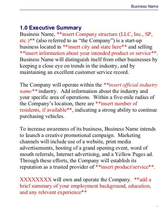 Business plan doc