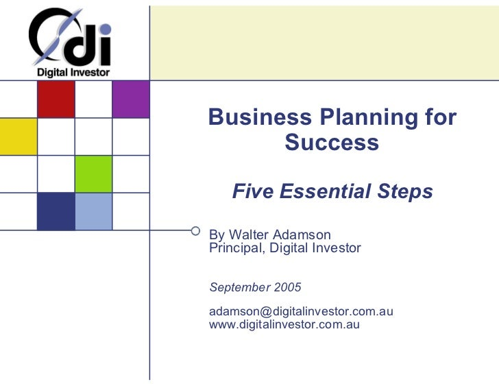 Business Planning for Success - 5 Essential Steps