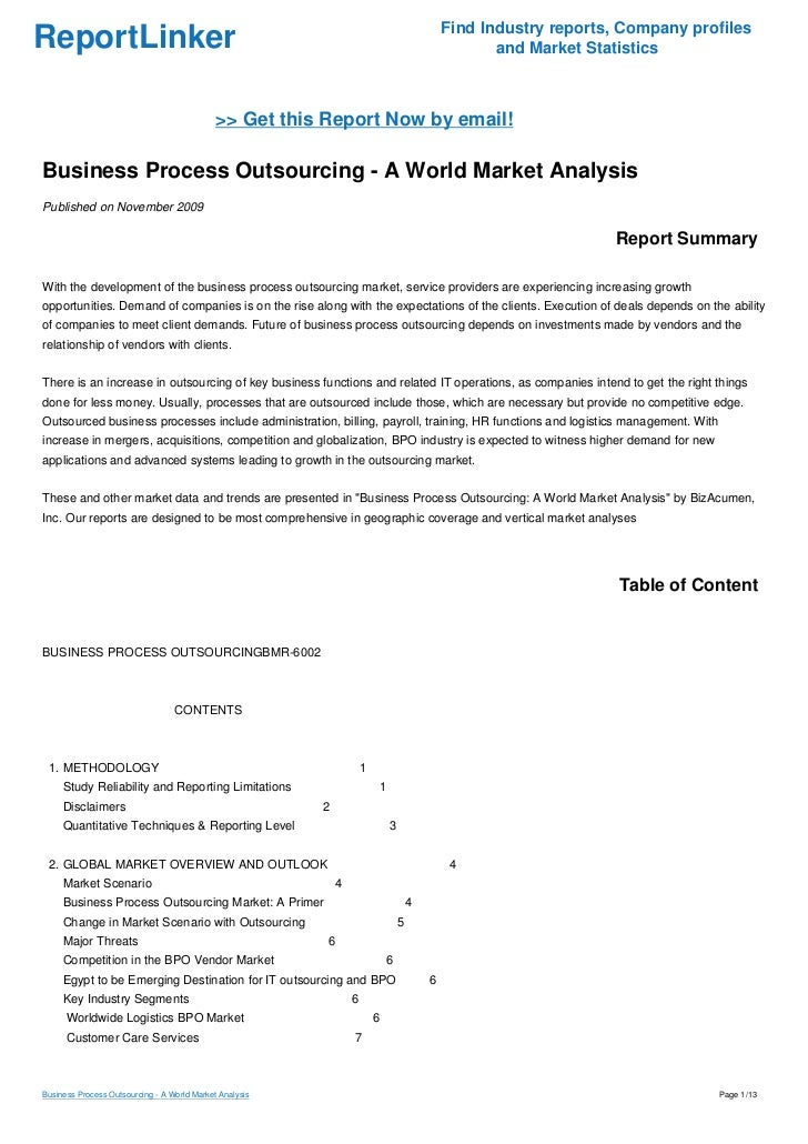 business process outsourcing case study