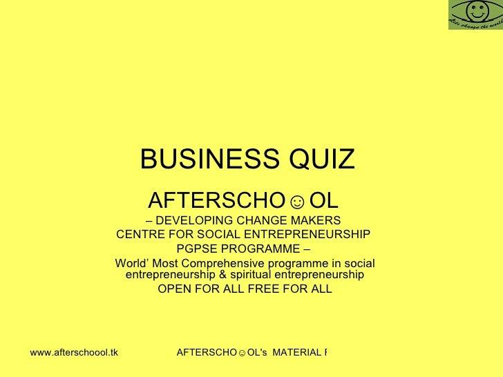 Business Quiz 31 October