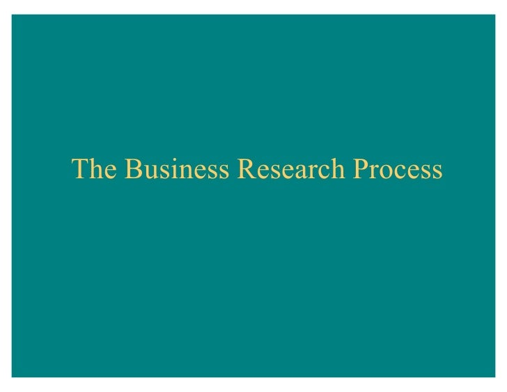 Business research-process