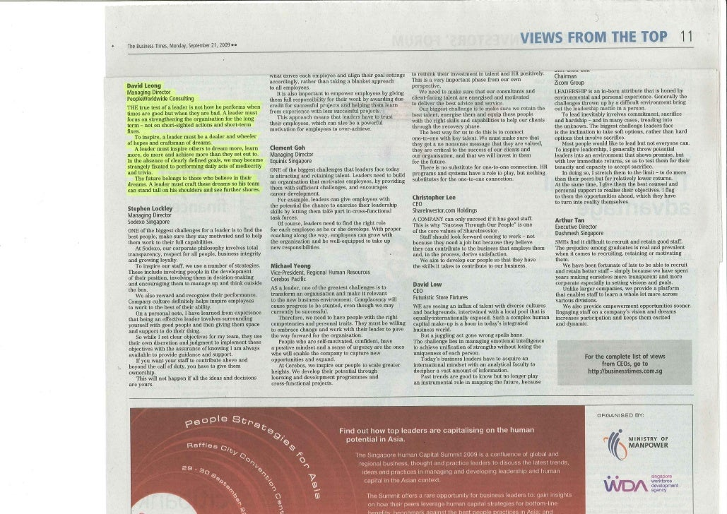 Business Times_A Leader_ 22  Sept 09