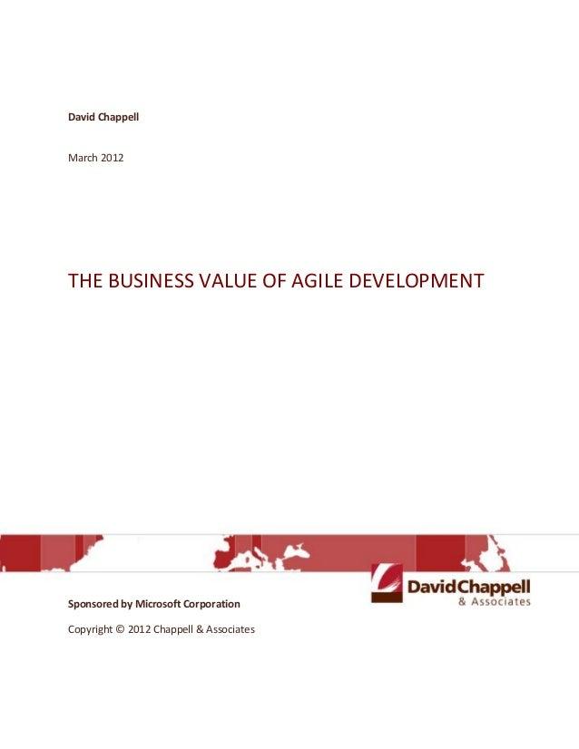 The Business value of agile development