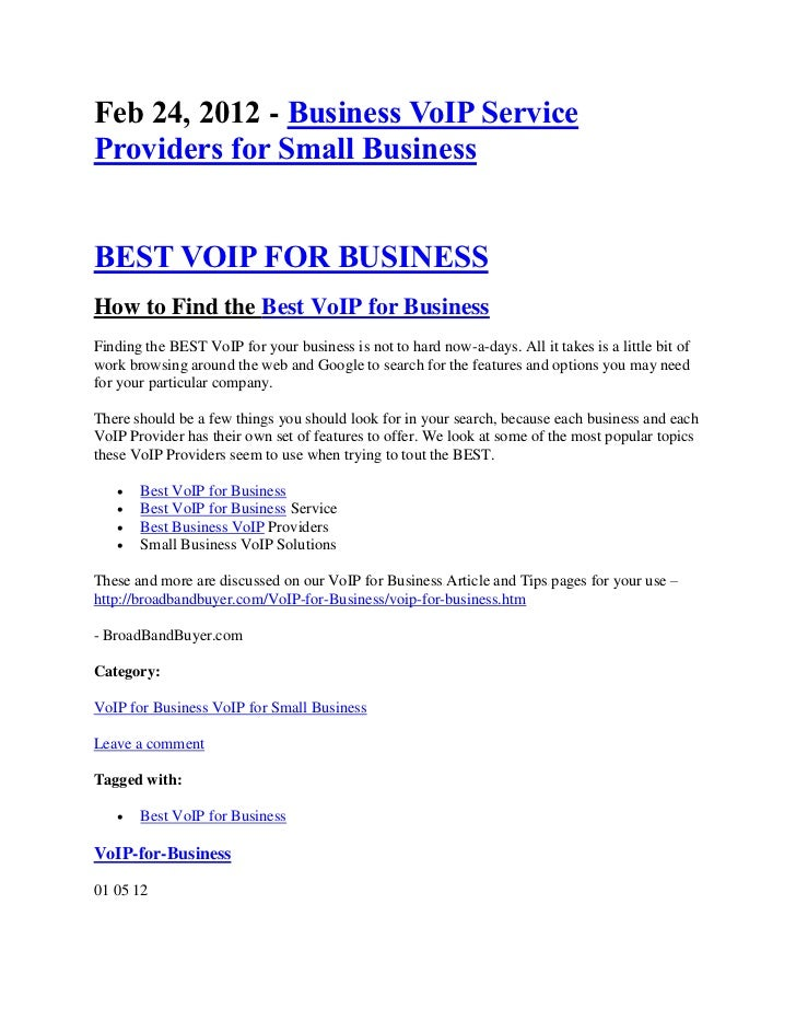 Business-voip-service-providers