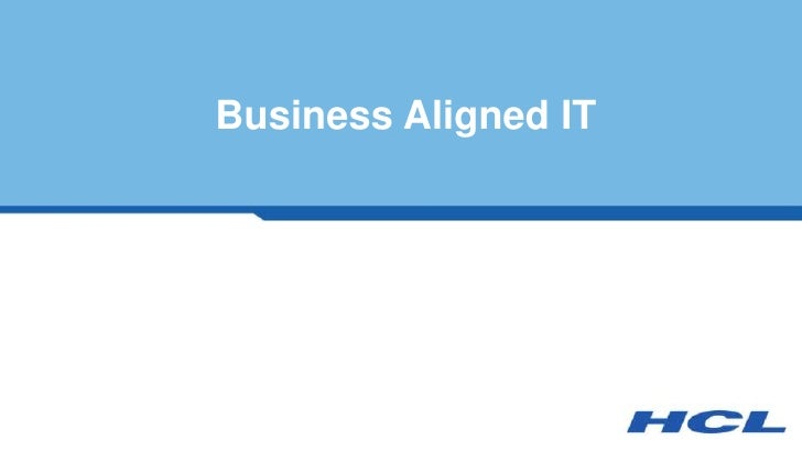 Business Aligned IT