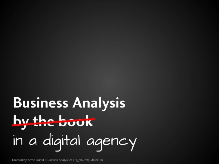 Business Analysis in a Digital Agency