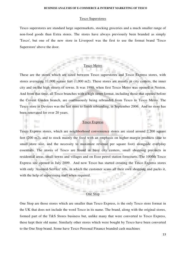 Customer loyalty tesco dissertation