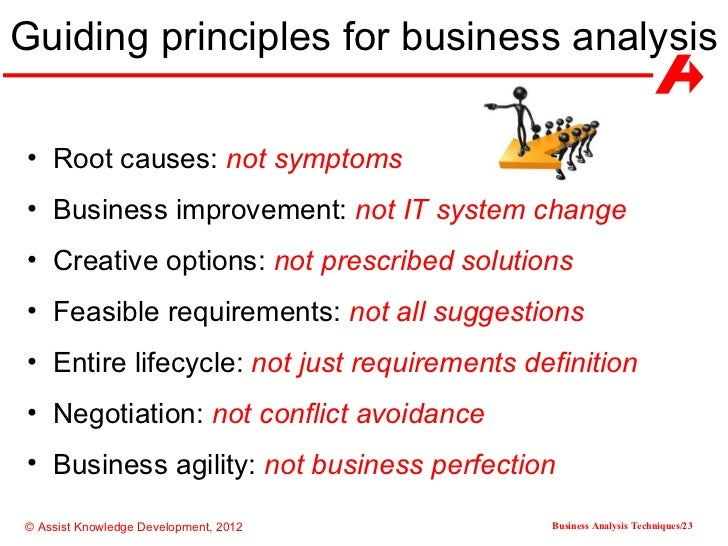 business analysis techniques Join author and certified business analyst haydn thomas as he walks you through the fundamentals of business analysis tools and techniques haydn will demonstrate how these skills are used to .