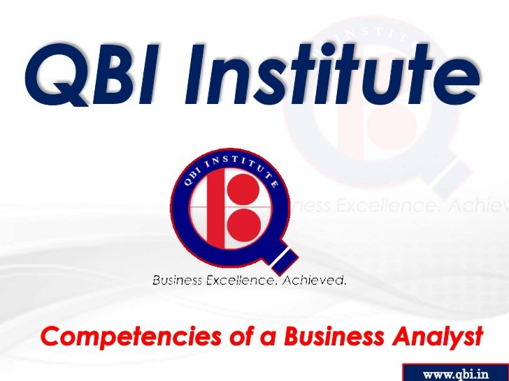 Competencies of A Business Analyst