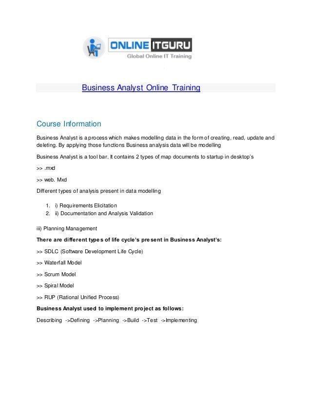 Online Certification Online Certification For Business Analyst