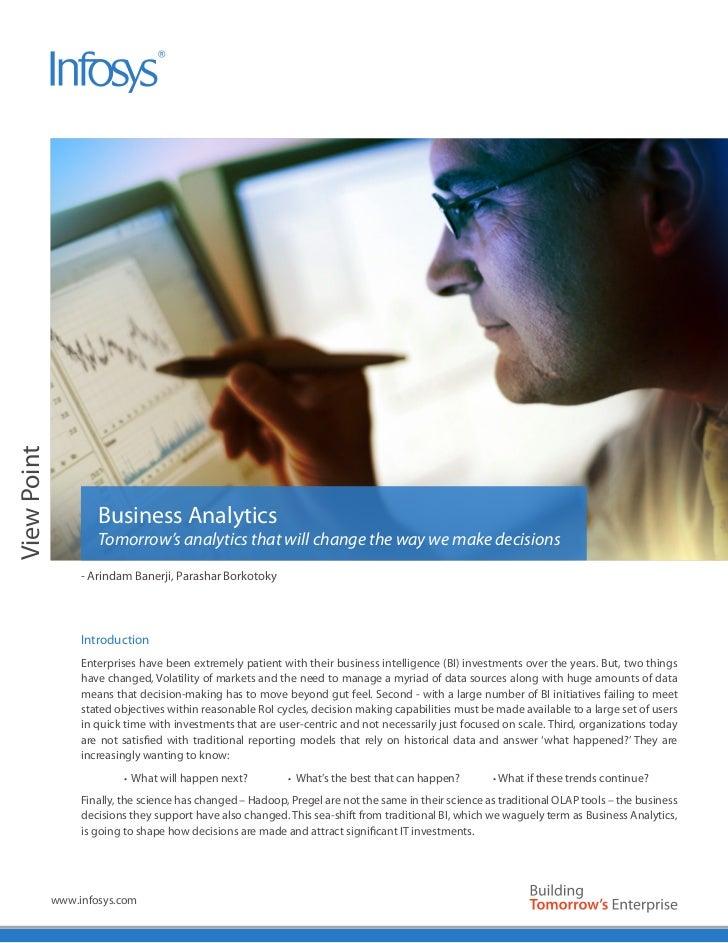 View Point                      Business Analytics                      Tomorrow's analytics that will change the way we m...
