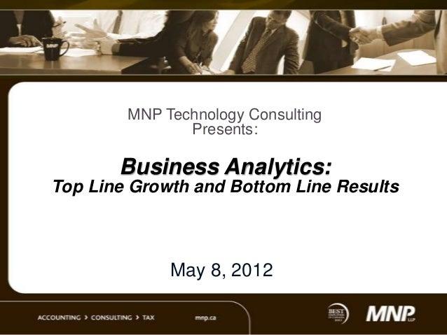 Business analytics workshop presentation   final