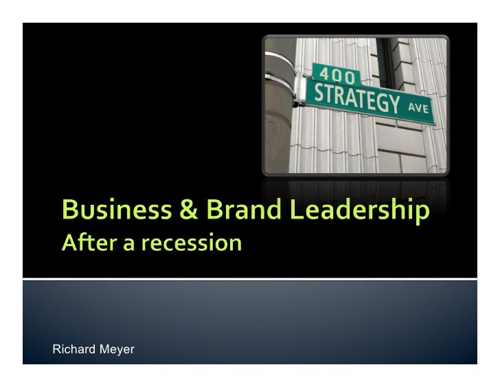 Business And Brand Leadership after a recession