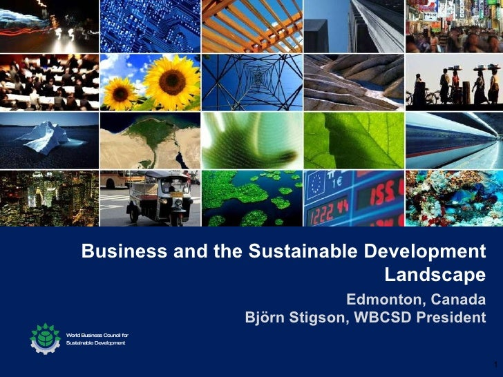 Business and the Sustainable Development Landscape Edmonton, Canada Björn Stigson, WBCSD President