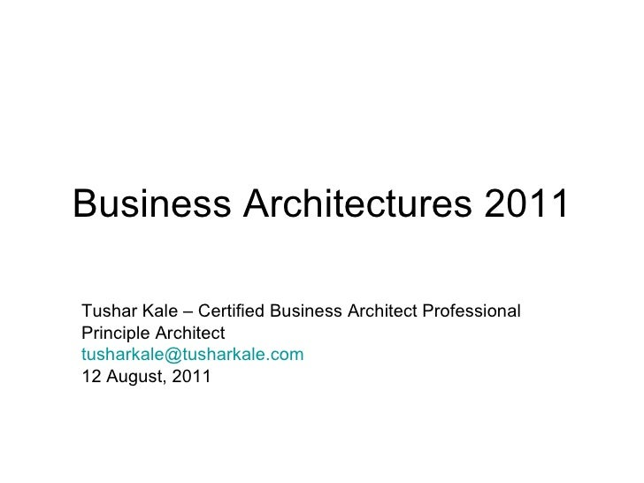 Business Architectures 2011
