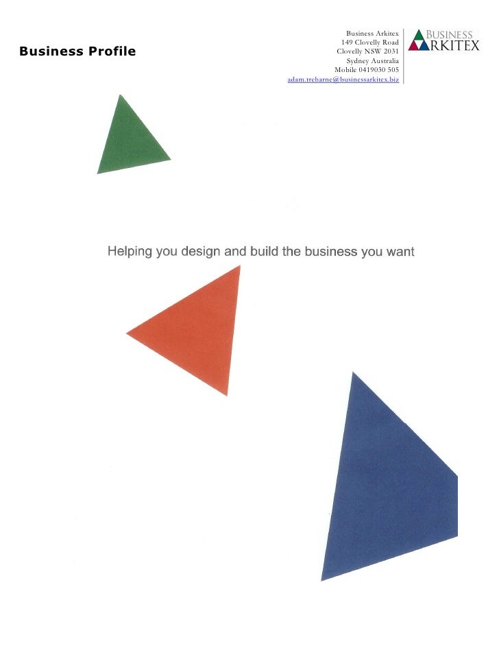 Business Arkitex Business Profile I