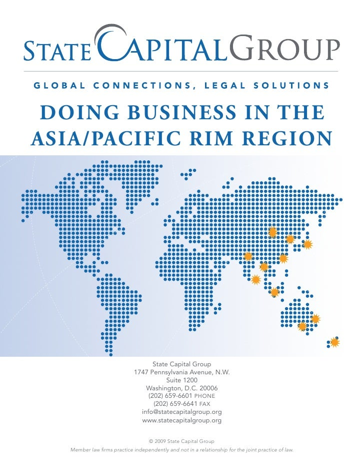DOING BUSINESS IN THEASIA/PACIFIC RIM REGION                                    State Capital Group                       ...