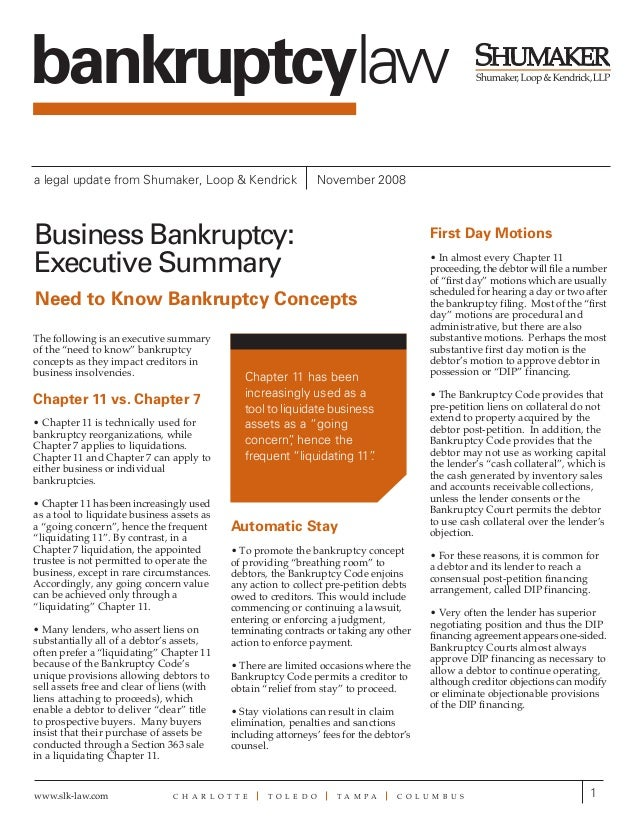 bankruptcylawa legal update from Shumaker, Loop & Kendrick                      November 2008Business Bankruptcy:         ...