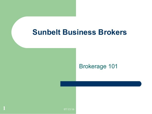 What is a business brokerage