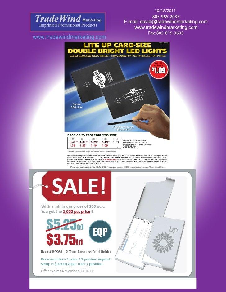 10/18/2011www.tradewindmarketing.com