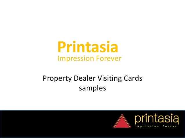 Business card designs property dealer printasia