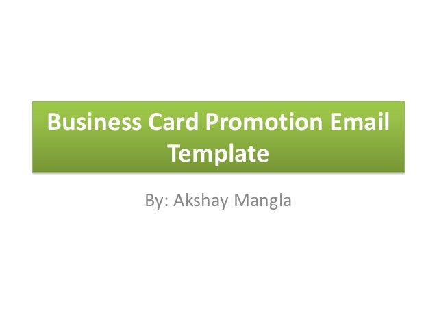 business card promotion email template